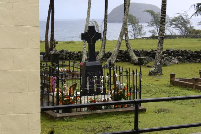 Fr. Damien's tomb